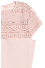 Lace top - Light pink - Ladies | H&M CN 3