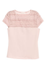 Lace top - Light pink - Ladies | H&M CN 2