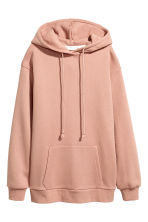 Hooded top with side slits - Powder beige -  | H&M 2
