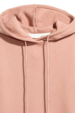 Hooded top with side slits - Powder beige -  | H&M 3