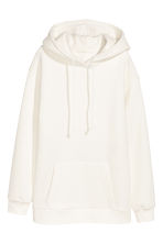 Hooded top with side slits - White - Ladies | H&M CN 2
