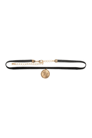 Choker with a pendant - Black - Ladies | H&M CA 1