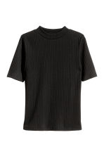 Top a costine - Nero -  | H&M IT 2