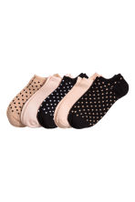 5-pack trainer socks - Beige/Spotted - Ladies | H&M 1