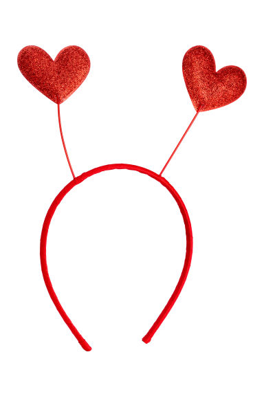 Alice band with hearts - Red/Hearts - Kids | H&M 1