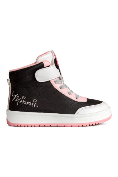 Hi-top trainers - Black/Minnie Mouse - Kids | H&M 1
