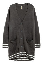 Fine-knit cardigan - Dark grey - Ladies | H&M 2