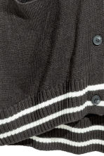 Fine-knit cardigan - Dark grey - Ladies | H&M 3
