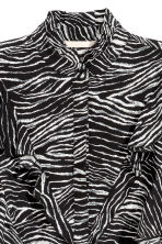 Patterned frilled blouse - Zebra print -  | H&M 4