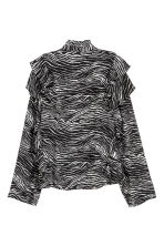 Patterned frilled blouse - Zebra print -  | H&M 3