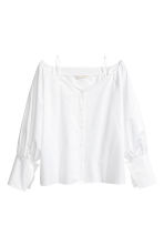 Off-Shoulder-Bluse - Weiss -  | H&M CH 2
