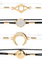 4-pack bracelets - Gold/Black/White - Ladies | H&M 2