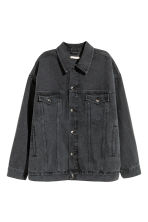 Oversized denim jacket - Black denim - Ladies | H&M 2