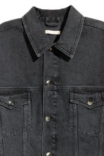 Oversized denim jacket - Black denim - Ladies | H&M 4