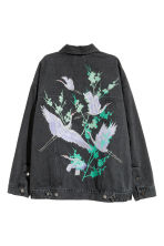 Oversized denim jacket - Black denim - Ladies | H&M 3