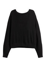 Ribbed top - Black -  | H&M 2