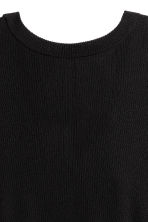 Ribbed top - Black -  | H&M 4