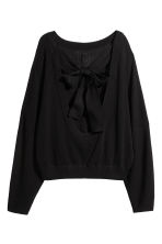 Ribbed top - Black - Ladies | H&M GB 3