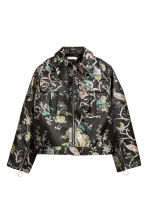 Wide jacket - Black/Floral -  | H&M 2