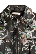 Wide jacket - Black/Floral -  | H&M 3