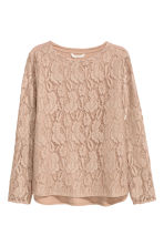 Lace top - Beige - Ladies | H&M 2