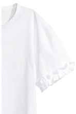 Top with frill detail - White -  | H&M CN 3