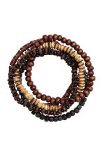 5-pack bracelets - Dark brown - Men | H&M IE 2