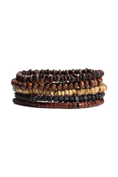 5-pack bracelets - Dark brown - Men | H&M IE 1