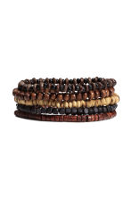 5-pack bracelets - Dark brown - Men | H&M 1