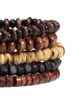 5-pack bracelets - Dark brown - Men | H&M 3