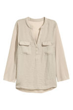 Crêpe blouse - Light beige - Ladies | H&M CN 2