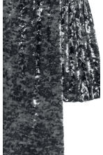 Crushed velvet dress - Dark grey - Ladies | H&M CN 3