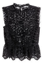 Frilled lace blouse - Black - Ladies | H&M 2