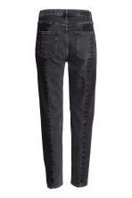 Straight High Patchwork Jeans - Mörkgrå denim -  | H&M FI 3