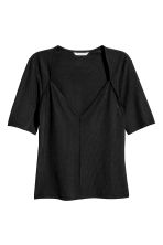 Top met V-hals - Zwart - DAMES | H&M BE 2