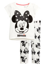 Jersey pyjamas - White/Minnie Mouse - Kids | H&M CN 1