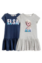 2-pack jersey dresses - Dark blue/Frozen - Kids | H&M 1