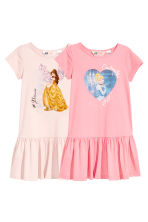 2-pack jersey dresses - Pink/Disney Princesses - Kids | H&M 1