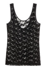 Lace vest top - Black - Ladies | H&M 2