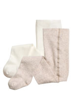 2-pack tights - Beige - Kids | H&M CN 1