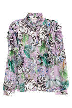 Frilled blouse - Purple/Tigers - Ladies | H&M 2