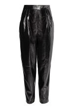 Patent trousers - Black - Ladies | H&M CN 2
