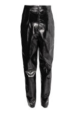 Patent trousers - Black - Ladies | H&M CN 3