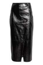 Calf-length wrap skirt - Black -  | H&M 2