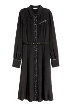 Shirt dress with a belt - Black - Ladies | H&M 2