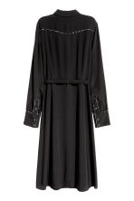 Shirt dress with a belt - Black - Ladies | H&M 3