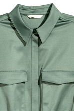 Shirt dress - Green - Ladies | H&M 3