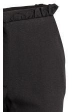 Trousers with frills - Black - Ladies | H&M CN 3