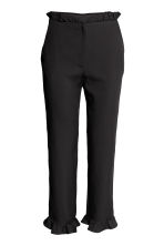 Trousers with frills - Black - Ladies | H&M 2