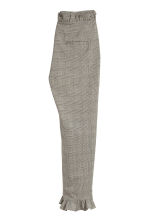 Trousers with frills - Grey/Checked - Ladies | H&M CN 3